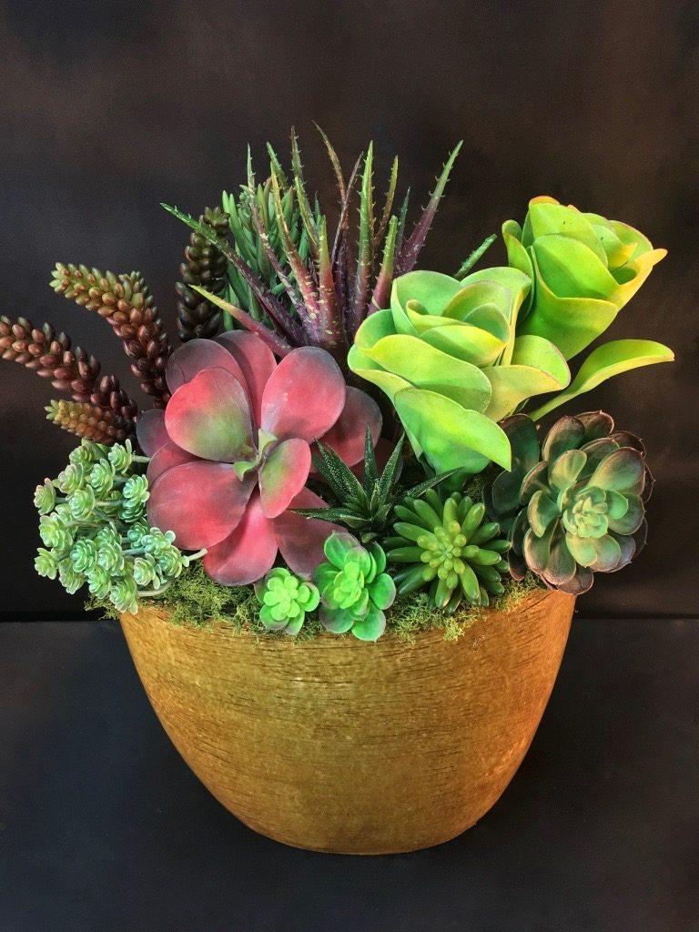 replica succulent arrangement